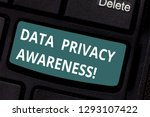 text sign showing data privacy...   Shutterstock . vector #1293107422
