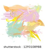 abstract colorful pastel paint... | Shutterstock .eps vector #1293108988