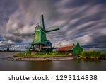 zaandam  holland  an old mill... | Shutterstock . vector #1293114838