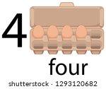 four egg in carton illustration | Shutterstock .eps vector #1293120682
