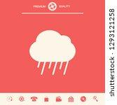 cloud rain icon. graphic... | Shutterstock .eps vector #1293121258