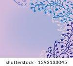 ivy vine background vector with ... | Shutterstock .eps vector #1293133045