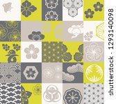 seamless pattern with japanese... | Shutterstock .eps vector #1293140098