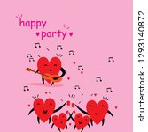 cartoon hearts funny and cute... | Shutterstock .eps vector #1293140872