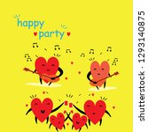 cartoon hearts funny and cute... | Shutterstock .eps vector #1293140875
