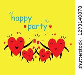 cartoon hearts funny and cute... | Shutterstock .eps vector #1293140878
