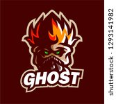 Ghost Fire Mascot Logo Gaming...