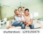 beautiful smiling family... | Shutterstock . vector #1293150475