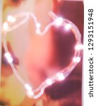 heart shape in blurred lights ... | Shutterstock . vector #1293151948