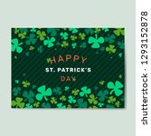 happy st. patrick's day... | Shutterstock .eps vector #1293152878