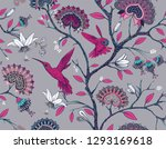 vector seamless pattern with... | Shutterstock .eps vector #1293169618