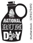 a bottle of rum for the... | Shutterstock .eps vector #1293175492