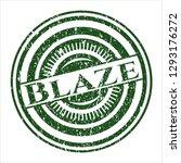 green blaze rubber seal with... | Shutterstock .eps vector #1293176272