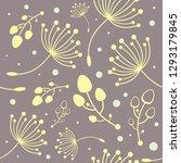 botanical vector seamless...   Shutterstock .eps vector #1293179845