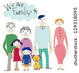 family | Shutterstock . vector #129318095