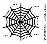 cobweb line icon design  | Shutterstock .eps vector #1293191128