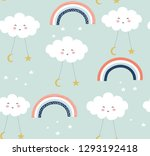 seamless pattern with cute... | Shutterstock .eps vector #1293192418