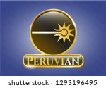 golden badge with laser icon... | Shutterstock .eps vector #1293196495