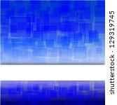 high tech blue light effect... | Shutterstock .eps vector #129319745