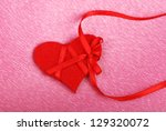 symbol red heart on purple... | Shutterstock . vector #129320072