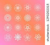 flower pattern with a pink and... | Shutterstock .eps vector #1293202315