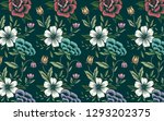 vintage hand drawn floral... | Shutterstock .eps vector #1293202375