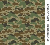 camouflage seamless pattern. | Shutterstock .eps vector #1293204505