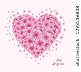 spring card with beautiful... | Shutterstock . vector #1293216838