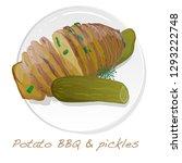 potato bbq vector illustration... | Shutterstock .eps vector #1293222748