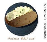potato bbq vector illustration... | Shutterstock .eps vector #1293222772