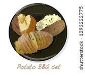potato bbq vector illustration... | Shutterstock .eps vector #1293222775