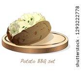potato bbq vector illustration... | Shutterstock .eps vector #1293222778