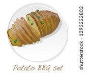potato bbq vector illustration... | Shutterstock .eps vector #1293222802