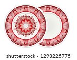decorative plates with mandala... | Shutterstock .eps vector #1293225775