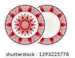 floral ornament plate for wall... | Shutterstock .eps vector #1293225778