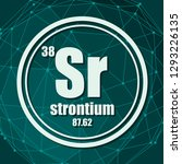 strontium chemical element.... | Shutterstock .eps vector #1293226135