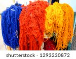 colorful necklaces for sale ...   Shutterstock . vector #1293230872