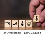concept image with different... | Shutterstock . vector #1293233365
