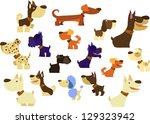 big dogs collection | Shutterstock .eps vector #129323942