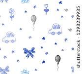 dark blue vector seamless... | Shutterstock .eps vector #1293239935