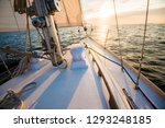sailing at sunset. a view from... | Shutterstock . vector #1293248185