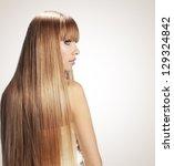 portrait of beautiful girl with ... | Shutterstock . vector #129324842