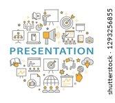 presentation outline icons set... | Shutterstock .eps vector #1293256855