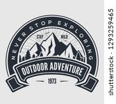 outdoor adventure vintage label ... | Shutterstock .eps vector #1293259465