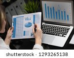 businessman analyzing... | Shutterstock . vector #1293265138