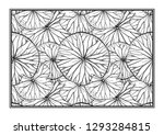 exotic leaves black and white... | Shutterstock .eps vector #1293284815