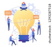 concept for teamwork  searching ... | Shutterstock .eps vector #1293287518