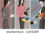 a set of 3 businesswomen vector ... | Shutterstock .eps vector #1293289