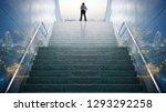 double exposure businessman... | Shutterstock . vector #1293292258