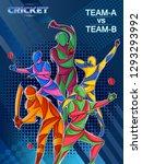 vector design of batsman player ... | Shutterstock .eps vector #1293293992